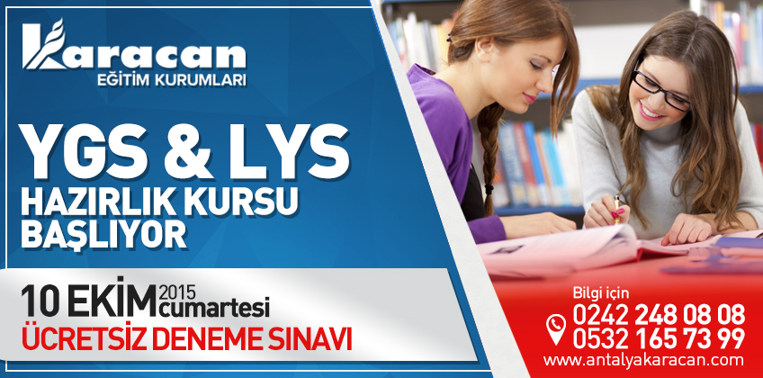 YGS - LYS Üniversite Hazırlık Kurslarımız Başlıyor.