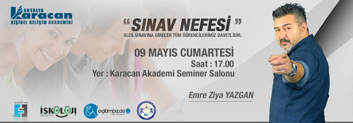 Emre Ziya YAZGAN ile Sınav Nefesi Semineri