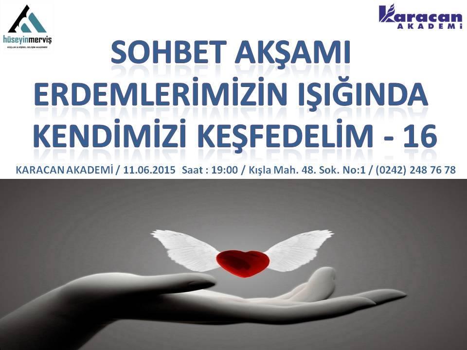 Hüseyin MERVİŞ Karacan Akademide Sohbet Akşamında